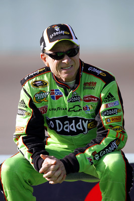 HOMESTEAD, FL - NOVEMBER 19:  Mark Martin, driver of the #5 GoDaddy.com Chevrolet, sits on pit wall during qualifying for the NASCAR Sprint Cup Series Ford 400 at Homestead-Miami Speedway on November 19, 2010 in Homestead, Florida.  (Photo by Chris Trotma