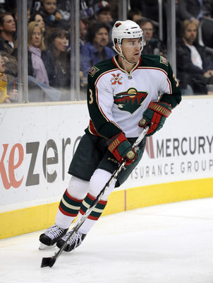LOS ANGELES, CA - DECEMBER 11:  Marek Zidlicky #3 of the Minnesota Wild looks to pass against the Los Angeles Kings at the Staples Center on December 11, 2010 in Los Angeles, California.  (Photo by Harry How/Getty Images)