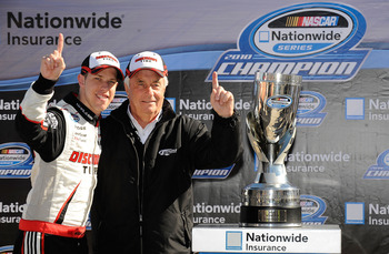Roger Penske won his first NASCAR title in 2010 with Brad keselowski.