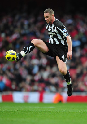 LONDON, ENGLAND - NOVEMBER 07:  Kevin Nolan of Newcastle in action during the Barclays Premier League match between Arsenal and Newcastle United at the Emirates Stadium on November 7, 2010 in London, England.  (Photo by Mike Hewitt/Getty Images)