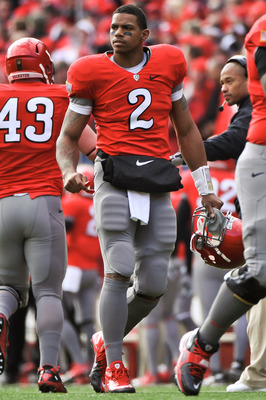 COLUMBUS, OH - NOVEMBER 27:  Quarterback Terrelle Pryor #2 of the Ohio State Buckeyes prepares to take the field against the Michigan Wolverines at Ohio Stadium on November 27, 2010 in Columbus, Ohio.  (Photo by Jamie Sabau/Getty Images)