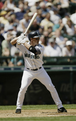 SEATTLE - JULY 18:  Bret Boone #29 of the Seattle Mariners bats during the game against the Cleveland Indians on July 18, 2004 at Safeco Field in Seattle, Washington.  The Mariners defeated the Indians 7-5.  (Photo by Otto Greule Jr/Getty Images)