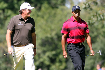 Tiger and Phil played together a year ago at Cog Hill
