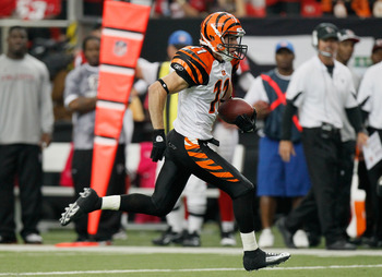 ATLANTA - OCTOBER 24:  Jordan Shipley #11 of the Cincinnati Bengals against the Atlanta Falcons at Georgia Dome on October 24, 2010 in Atlanta, Georgia.  (Photo by Kevin C. Cox/Getty Images)