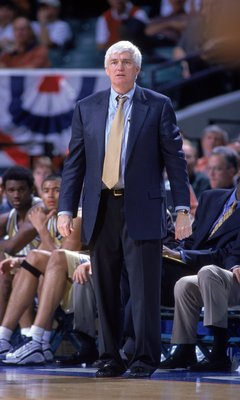 9 Mar 2000: Head Coach Bobby Cremins of the Georgia Tech Yellow Jackets watches the action from the sidelines during the ACC Tournament Game against the Florida State Seminoles at the Charlotte Coliseum in Charlotte, North Carolina. The Seminoles defeated