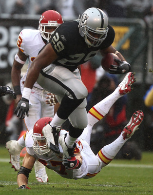 Michael Bush (RB) from Oakland is a bruiser of a back and had a very nice year despite playing behind Darren McFadden.
