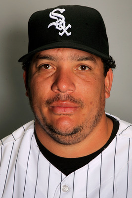 GLENDALE, AZ - FEBRUARY 20:  Bartolo Colon of the Chicago White Sox poses during photo day at the White Sox spring training complex on February 20, 2009 in Glendale, Arizona.  (Photo by Matthew Stockman/Getty Images)