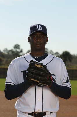 PORT CHARLOTTE, FL - FEBRUARY 26:  Rafael Soriano #29 of the Tampa Bay Rays poses for a photo during Spring Training Media Photo Day at Charlotte County Sports Park on February 26, 2010 in Port Charlotte, Florida.  (Photo by Nick Laham/Getty Images)