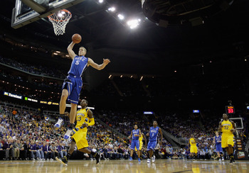 KANSAS CITY, MO - NOVEMBER 22:  Mason Plumlee #5 of the Duke Blue Devils in action during the CBE Classic game against the Marquette Golden Eagles on November 22, 2010 at the Sprint Center in Kansas City, Missouri.  (Photo by Jamie Squire/Getty Images)