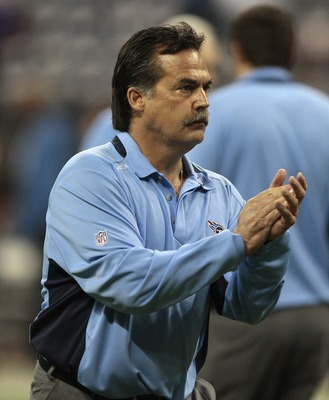 HOUSTON - NOVEMBER 23:  Tennessee Titans head coach Jeff Fisher at Reliant Stadium on November 23, 2009 in Houston, Texas.  (Photo by Bob Levey/Getty Images)