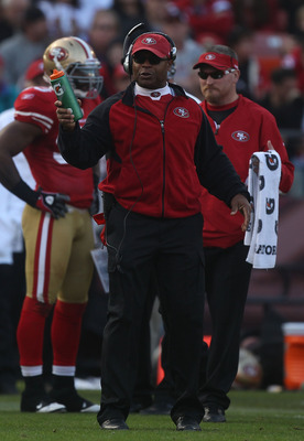 SAN FRANCISCO - DECEMBER 12: Head coach Mike Singletary of the San Francisco 49ers looks on against the Seattle Seahawks during an NFL game at Candlestick Park on December 12, 2010 in San Francisco, California.(Photo by Jed Jacobsohn/Getty Images)