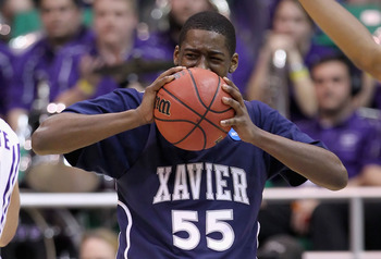 SALT LAKE CITY - MARCH 25:  Jordan Crawford #55 of the Xavier Musketeers reacts after being called for a penalty against the Kansas State Wildcats during the west regional semifinal of the 2010 NCAA men's basketball tournament at the Energy Solutions Aren