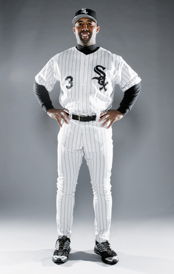 TUCSON, AZ - FEBRUARY 26:  First Base Coach Harold Baines poses for a portrait during the Chicago White Sox Photo Day on February 26, 2006 at Tuscon Electric Park in Tucson, Arizona.  (Photo by Jonathan Ferrey/Getty Images)