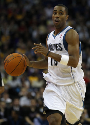 LONDON, ENGLAND - OCTOBER 04:  Wayne Ellington of the Minnesota Timberwolves in action during the NBA Europe Live match between the Los Angeles Lakers and the Minnesota Timberwolves at the O2 arena on October 4, 2010 in London, England.  (Photo by Clive R