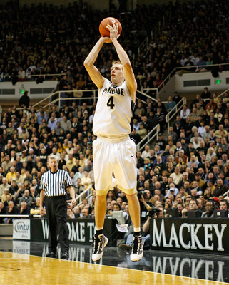 WEST LAFAYETTE, IN - JANUARY 12:  Robbie Hummel #4 of the Purdue Boilermakers shoots the ball during the Big Ten game against the Ohio State Buckeyes at Mackey Arena on January 12, 2010 in West Lafayette, Indiana. Ohio State won 70-66. (Photo by Andy Lyon