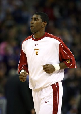 OMAHA, NE - MARCH 20:  O.J. Mayo #32 of the USC Trojans during warm-ups against the Kansas State Wildcats during the Midwest Region first round of the 2008 NCAA Men's Basketball Tournament on March 20, 2008 at the Qwest Center in Omaha, Nebraska. Kansas S