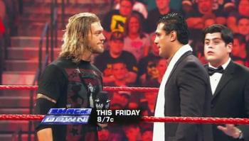 What will happen when Edge faces Del Rio in Atlanta?