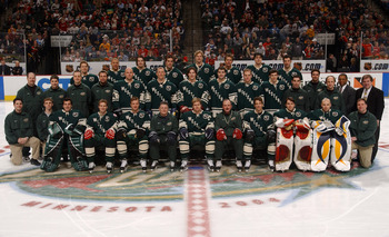 ST. PAUL, MN - FEBRUARY 7:  The Western Conference All-Star team poses for a group picture before their practice on February 7, 2004 at the Xcel Energy Center in St. Paul, Minnesota. (Photo by Dave Sandford/Getty Images)