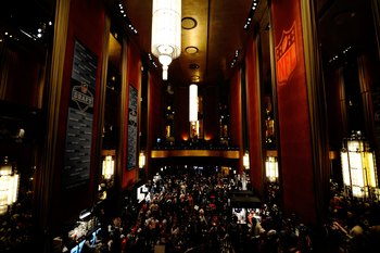 NEW YORK - APRIL 22:  A general view of atmosphere during the 2010 NFL Draft at Radio City Music Hall on April 25, 2009 in New York City.  (Photo by Jeff Zelevansky/Getty Images)