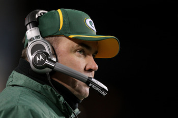 PHILADELPHIA, PA - JANUARY 09:  Head coach Mike McCarthy of the Green Bay Packers looks on during their game against the Philadelphia Eagles during the 2011 NFC wild card playoff game at Lincoln Financial Field on January 9, 2011 in Philadelphia, Pennsylv