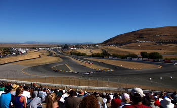 Infineon Raceway is much more fan friendly since Bruton Smith eliminated the hills that blocked most of the track for patrons.