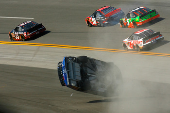 Talladega Superspeedway is usually good for one rollover crash per race.