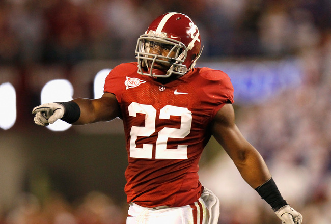 TUSCALOOSA, AL - OCTOBER 02:  Mark Ingram #22 of the Alabama Crimson Tide against the Florida Gators at Bryant-Denny Stadium on October 2, 2010 in Tuscaloosa, Alabama.  (Photo by Kevin C. Cox/Getty Images)