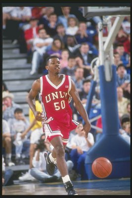 17 Jan 1991: Guard Greg Anthony of the UNLV Rebels in action during a game against the University of California at Irvine Anteaters.