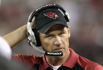 GLENDALE, AZ - DECEMBER 25:  Head coach Ken Whisenhunt of the Arizona Cardinals during the NFL game against the Dallas Cowboys at the University of Phoenix Stadium on December 25, 2010 in Glendale, Arizona. The Cardinals defeated the Cowboys 27-26.  (Phot
