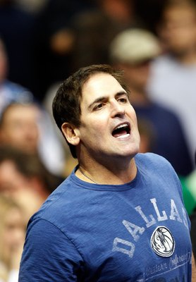 DALLAS - NOVEMBER 18:  Owner Mark Cuban of the Dallas Mavericks on November 18, 2009 at American Airlines Center in Dallas, Texas.  NOTE TO USER: User expressly acknowledges and agrees that, by downloading and/or using this Photograph, user is consenting