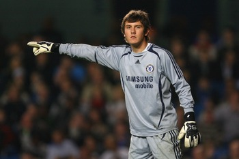 LONDON - APRIL 03:  Rhys Taylor of Chelsea points instructions during the FA Youth Cup final first leg match between Chelsea and Manchester City at Stamford Bridge on April 3, 2008 in London, England.  (Photo by Julian Finney/Getty Images)