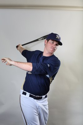 MARYVALE, AZ - MARCH 01:  Mat Gamel # 24 poses for a portrait during the Milwaukee Brewers Photo Day at the Maryvale  Baseball Park on March 1, 2010 in Maryvale, Arizona.  (Photo by Jonathan Ferrey/Getty Images)