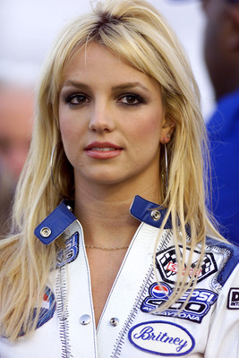 7 Jul 2001: Singer Britney Spears as Grand Marshal  during the NASCAR Winston Cup Pepsi 400 at the Daytona International Speedway, Daytona, Florida. Digital Image. Mandatory Credit: Donald Miralle/ALLSPORT