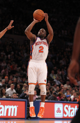 NEW YORK - DECEMBER 22:  Raymond Felton #2 of the New York Knicks in action against the Oklahoma City Thunder at Madison Square Garden on December 22, 2010 in New York, New York.   NOTE TO USER: User expressly acknowledges and agrees that, by downloading