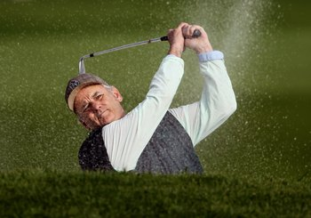 PEBBLE BEACH, CA - FEBRUARY 13:  Actor Bill Murray in action during round three of the AT&T Pebble Beach National Pro-Am at Pebble Beach Golf Links on February 13, 2010 in Pebble Beach, California.  (Photo by Ezra Shaw/Getty Images)