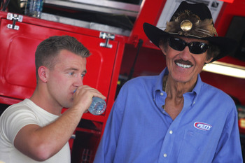 Aj Almendinger and Richard Petty have had their differences.