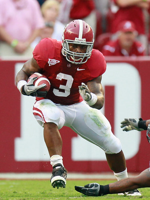 TUSCALOOSA, AL - SEPTEMBER 11:  Trent Richardson #3 of the Alabama Crimson Tide against the Penn State Nittany Lions at Bryant-Denny Stadium on September 11, 2010 in Tuscaloosa, Alabama.  (Photo by Kevin C. Cox/Getty Images)
