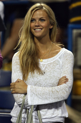 WASHINGTON - AUGUST 08:  Brooklyn Decker looks on after her husband, Andy Roddick, defeated John Isner during Day 5 of the Legg Mason Tennis Classic at the William H.G. FitzGerald Tennis Center on August 8, 2009 in Washington, DC. Roddick won the semi-fin