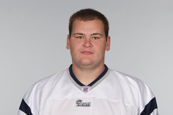 FOXBOROUGH, MA - 2009:  Ryan O'Callaghan of the New England Patriots poses for his 2009 NFL headshot at photo day in Foxborough, Massachusetts.  (Photo by NFL Photos)