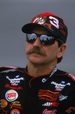 12 Feb 2000:  A close up of Dale Earnhardt Sr. as he  looks on  during Daytona Speedweeks at the Daytona International Speedway in Daytona Beach, Florida. Mandatory Credit: Robert Laberge  /Allsport