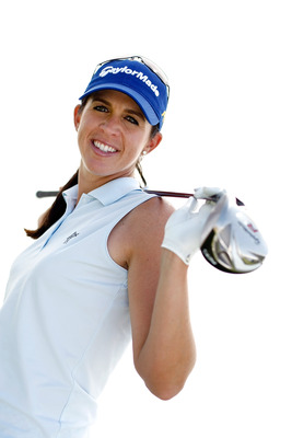 PHOENIX, AZ - MARCH 25:  Nicole Castrale poses for a portrait at the Papago Golf Course on March 25, 2009 in Phoenix, Arizona.  (Photo by Jonathan Ferrey/Getty Images)