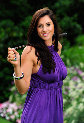 EVIAN, FRANCE - JULY 24:  Maria Verchenova of Russia poses for a photgraph prior to the gala dinner after the third round of the 2010 Evian Masters on July 24, 2010 in Evian, France.  (Photo by Stuart Franklin/Getty Images)