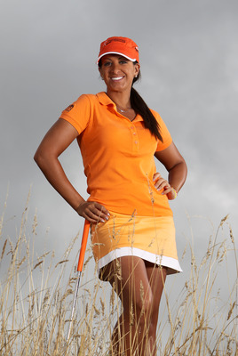 NORTH PLAINS, OR - AUGUST 18: Nicole Hage poses for a portrait before the Safeway Classic at Pumpkin Ridge Golf Club on August 18, 2010 in North Plains, Oregon. (Photo by Jonathan Ferrey/Getty Images)