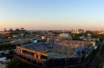 NEW YORK - AUGUST 30:  A general view of Louis Armstrong Stadium is seen during day one of the 2010 U.S. Open at the USTA Billie Jean King National Tennis Center on August 30, 2010 in the Flushing neighborhood of the Queens borough of New York City.  (Pho