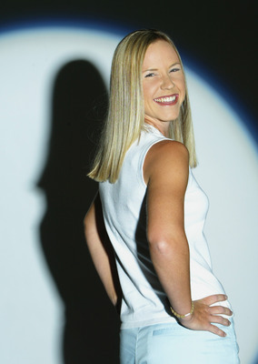 TARZANA, CA - MARCH 31:  Jenna Daniels during the portrait session before the start of the Office Depot Championship on March 31, 2004 at the El Caballero Country Club in Tarzana, California.  (Photo by Robert Laberge/Getty Images for LPGA)