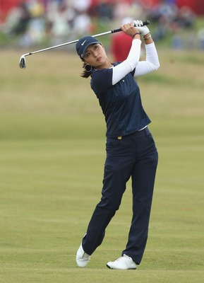 ST ANDREWS, UNITED KINGDOM - AUGUST 03:  Grace Park of Korea hits her approach on the 3rd hole during the Second Round of the 2007 Ricoh Women's British Open held on the Old Course at St Andrews on August 3, 2007 in St Andrews, Scotland.  (Photo by David