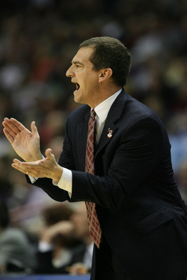 SPOKANE - MARCH 19:  Head coach Mark Turgeon of the Texas A&M  Aggies claps against the Utah State Aggies during the first round of the 2010 NCAA men's basketball tournament at the Spokane Arena on March 19, 2010 in Spokane, Washington. (Photo by Otto Gre