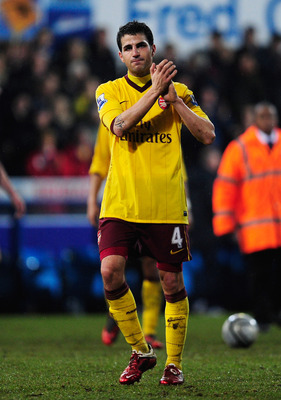 IPSWICH, ENGLAND - JANUARY 12:  Cesc Fabregas of Arsenal looks dejected after the Carling Cup Semi Final First Leg match between Ipswich Town and Arsenal at Portman Road on January 12, 2011 in Ipswich, England.  (Photo by Jamie McDonald/Getty Images)