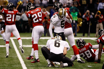 Seconds ago, Garrett Hartley missed a short field goal that would have lasting ramifications on the Saints' season.
