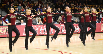 Iona Dancers perform at Marist Game.